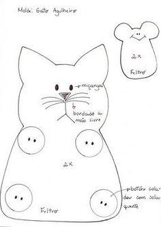 Как сшить игрушку примитива кошка, котята, кот. Выкройка кошек, кота / Мастер-класс