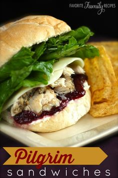 I thought that I would share with you my favorite way to eat leftover turkey and rolls-- pilgrim sandwiches. I love the combination of savory and sweet!