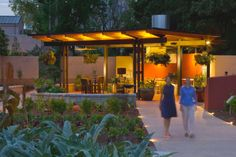 Atlanta's Botanical Garden boasts an edible garden and a vertical herb wall that provides food for cooking classes and chef demos to promote sustainable food.