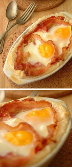 Bacon + Egg Pies