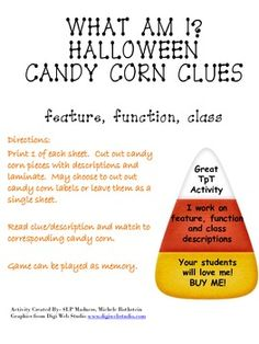 Halloween Candy Corn Descriptions-What Am I?-feature, func