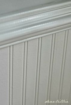Perfect Dear Lillie: Our Dining Room   She Used Paintable Bead Board Wallpaper.  Allen And