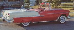 The 1955 Chevrolet Bel Air was a revolutionary low-priced car. Learn more about why this classic convertible has become such a popular collectible. 1955 Chevrolet, Chevrolet Bel Air, Vintage Cars, Antique Cars, Vintage Style, 1955 Chevy Bel Air, 1950s Car, Convertible, Chevy Classic