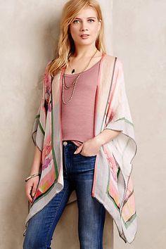 Tropical Flora Kimono - anthropologie.com