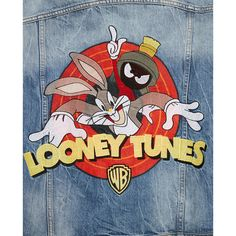 Painted Denim Jacket, Painted Jeans, Painted Clothes, Looney Tunes, Diy Clothing, Custom Clothes, Diy Vetement, Outerwear Women, Outerwear Jackets