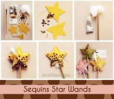 diy sequins star wands cute stars projects to try pinterest easy diy crafts fun diy and wand