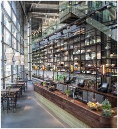 Bar Design: The Drift – city restaurant, bars in the city, restaurants near Liverpool street, Heron Tower Fusion Design, Design Café, Cafe Design, Graphic Design, Tower Design, Brand Design, Design Ideas, Café Bar, Deco Restaurant