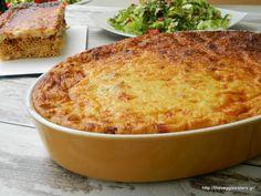 The best greek comfort food: vegetarian pastitsio! Greek Recipes, Veggie Recipes, Cooking Recipes, Healthy Recipes, Healthy Food, Veggie Pasta, Veggie Food, Good Food, Yummy Food