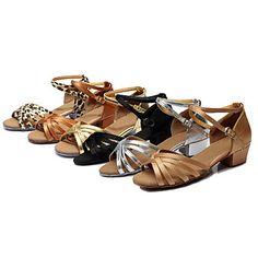 0107b439b81 Na zakázku - Dámské - Taneční boty - Latina - Hedvábí   Kůže - Masivní  podpatek