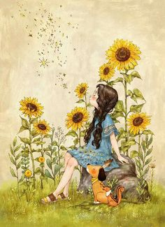 Keep your face to the sunshine and you cannot see the shadow. It's what sunflowers do.