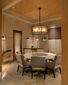 Soft Neutrals Create A Calm Relaxing Atmosphere In This Contemporary Dining Room And Subtle