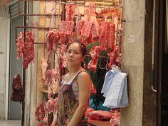 Butcher Shop in Soho on Hong Kong Island