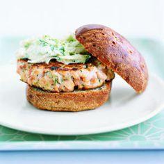 Salmon Burgers Recipe | MyRecipes.com Mobile