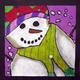 4th Grade Snowmen at Night