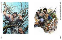 THORGALVERSE: Przykładowe strony z artbooka Rosińskiego