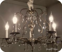 Vintage Crystal Chandelier this is much like my chandelier in my dining room! So perfect for me