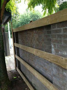 Diy Backyard Fence, Diy Fence, Backyard Landscaping, Back Gardens, Small Gardens, Outdoor Gardens, Back Garden Design, Garden Gates, Garden Styles