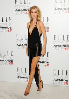 Rosie Huntington-Whiteley in Anthony Vaccarello S/S 2015 dress, Jimmy Choo shoes, Anita Ko earrings and Christian Louboutin clutch – 2015 ELLE Style Awards Rosie Huntington Whiteley, Rose Huntington, Celebrity Red Carpet, Celebrity Photos, Celebrity Style, Taylor Swift Latest, Plymouth, Elle Style Awards, Burberry