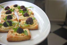 blackberry lemon goat cheese squares