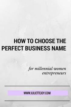 Chic millennial women want everything in their lives to be reflective of their authentic brand - including their business. If you're stuck on how to pick your ideal business name, click the link for info & a FREE two page worksheet. | Juliette Joy
