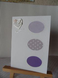 Cartes félicitations mariage dans des tons mauve : Cartes par made-by-newscrapeuse