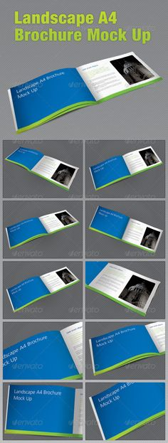 Buy Landscape Brochure Mock Up by pirretjp on GraphicRiver. A series of different styled layouts to mock up a Landscape brochure, prepare your brochures to show to clients, d. Blank Brochure Templates, Brochure Templates Free Download, Indesign Templates, Templates Printable Free, Word Free, Tuesday Motivation, User Interface, Presentation Templates, Mockup