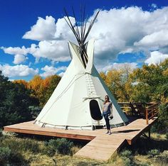 "395 Likes, 13 Comments - Brush Creek Ranch (@brushcreekranch) on Instagram: ""Listen to the sweet sounds of nature during your massage in our traditional tepees, definitely a…"""