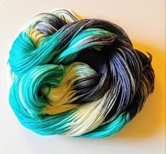 Check out Hand Dyed Yarn Dyed to Order - OCEAN STORM on heathersyarnbarn