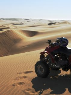 Quad bike experience for a lifetime in the desert close to Swakopmund #Namibia for more great ideas visit www.thepartyguide.co.uk