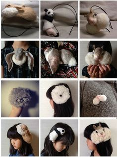 ...and then there's this.... #felt #squirrelhead #headband