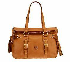 Dooney & Bourke Florentine Leather Tassel Satchel