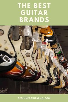 Ultimate guide to the best guitar brands - Whether you're a new player or a seasoned pro, sometimes it can be difficult to evaluate which of the best guitar brands are great for your style, and which aren't suited as well to your playing. Guitar Tips, Guitar Lessons, Seagull Guitars, Guitar Reviews, Johnny Marr, Signature Guitar, Types Of Guitar, Cool Electric Guitars, Guitar For Beginners
