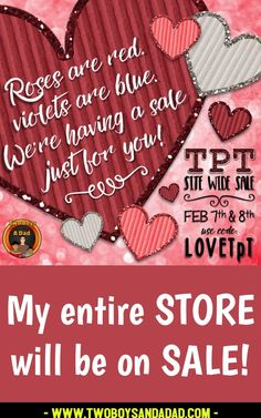 TpT Loves YOU! Come on over for the site wide sale and save up to 28% off your total purchase.  USE PROMO CODE LOVETpT to get the extra 10% off.  Find resources for all your needs in all curricular areas.  Check out my store for amazing deals of Google Slides products and more!