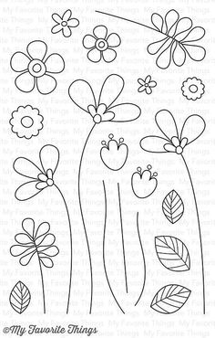 MFT STAMPS: Build-able Bouquet x 6 Clear Photopolymer Stamp Set) This 20 piece set includes Build-able Bouquet: - Flower heads x - Flowers Doodle Drawings, Easy Drawings, Doodle Art, Hand Embroidery Patterns, Embroidery Stitches, Mft Stamps, Flower Doodles, Bible Art, Flower Art