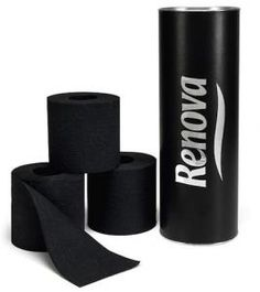 black toilet paper! who woulda thought