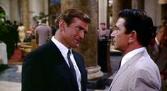 Richard Conte (right) Robert Taylor (left) Richard Conte, Movie Tv, Nostalgia, Entertaining, Film, Music, Fictional Characters, Offices, 1970s