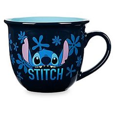 Stitch Character Mug | Disney Store Your favorite space-invader Stitch peers out as you sip from this ceramic mug. The spirited alien also strikes a pose against a background of tropical flowers for a laid-back beverage break.