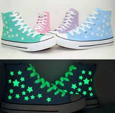 Korea candy color fluorescent stars luminous canvas shoes sold by Asian Cute {Kawaii Clothing}. Shop more products from Asian Cute {Kawaii Clothing} on Storenvy, the home of independent small businesses all over the world. Outfits With Converse, Converse Shoes, Shoes Sneakers, Shoes Heels, Sneakers Sale, White Converse, Prom Shoes, Louboutin Shoes, Running Sneakers