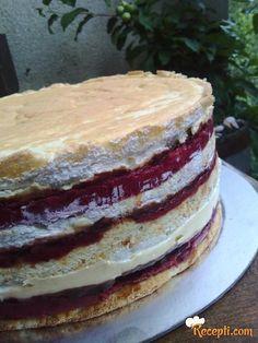 Dessert Cake Recipes, Frosting Recipes, Cupcake Recipes, Cookie Recipes, Desserts, Torte Recepti, Kolaci I Torte, Cherry Recipes, Strawberry Recipes