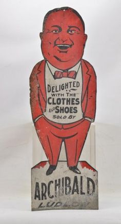 Archibald Ludlow Folk Art Advertising Sign