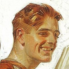 Traditional Art, Traditional Paintings, Jc Leyendecker, Norman Rockwell, Portrait Art, Art Blog, Painting & Drawing, Watercolor Painting, Art Inspo