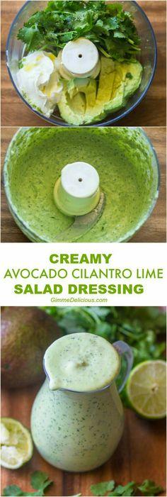 Avocado Cilantro Lime Salad Dressing