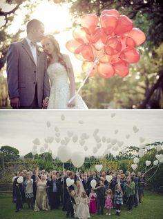 Balões em casamentos :)