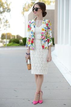 """mlovesmblog embroidered florals (""""Everyone needs a classic white dress. I immediately fell in love with this one, with its beautiful embroidered organza material. It's soft and feminine, and I think it will be perfect for graduation parties and birthdays this summer!"""")"""