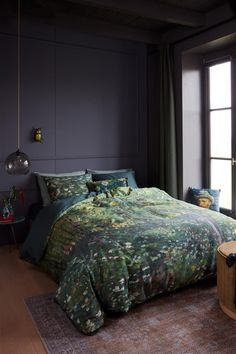 Van Gogh Museum, King Beds, Queen Beds, House Beds, Quilt Cover Sets, Green Cotton, Comforters, Duvet Covers, Interior Decorating