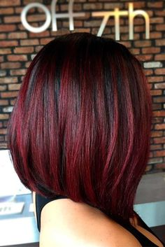 Black Red Balayage