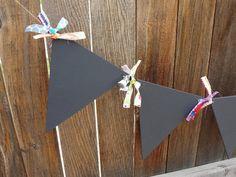 Chalkboard Bunting  Banner  Garland  Wedding  by ALittleMiscellany