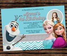 Frozen Birthday Invitation, Frozen Invite, Olaf Invitation Frozen party Disney by LittleMsBuddha Disney Frozen Invitations, Frozen Birthday Invitations, Print Your Own Invitations, Disney Frozen Birthday, Glitter Invitations, Frozen Party, Frozen Backdrop, Sesame Street Invitations, Rsvp