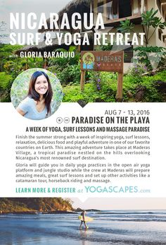 August 7-13, 2016 Nicaragua Surf & Yoga Retreat with Yogascapes