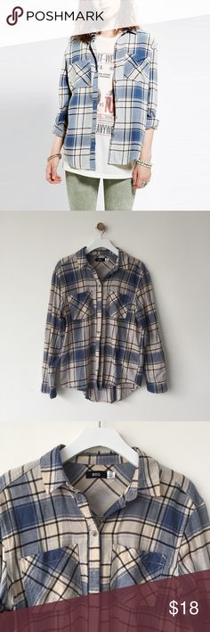 Urban outfitters / BDG plaid flannel shirt Super soft flannel button down shirt. Worn twice, in great condition. Urban Outfitters Tops Button Down Shirts